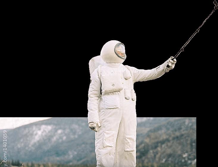 Spaceman taking a selfie